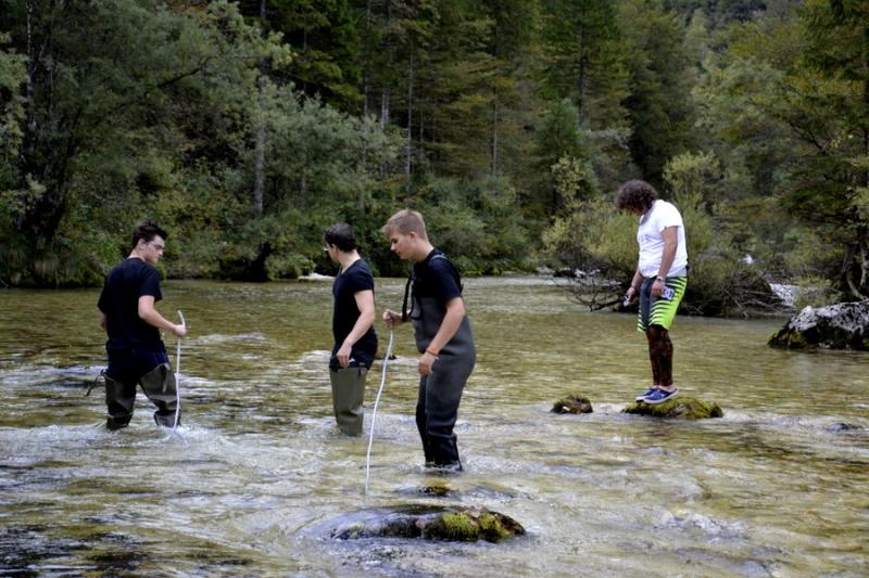 Bohinj - Padec vodnega toka